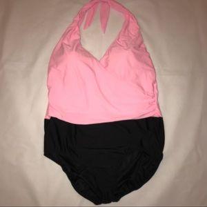 Trimshaper 24W Swimsuit Pink & Black 24W